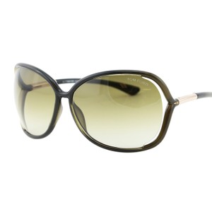 Tom Ford New TOM FORD RAQUEL FT 0076 Gradient Green & Gold Details Sunglasses