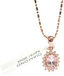 Other 14 K Rose Gold chain with Diamond Ladies Necklace