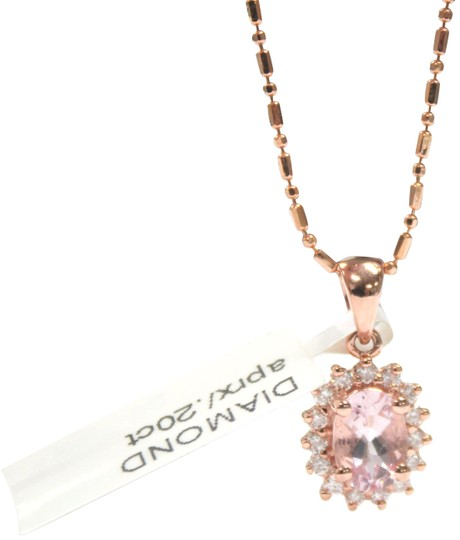 Preload https://img-static.tradesy.com/item/22402139/rose-gold-14-k-chain-with-diamond-ladies-necklace-0-2-540-540.jpg