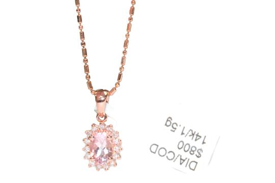 Other 14 K Rose Gold chain with Diamond Ladies Necklace Image 3