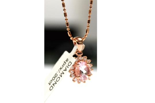 Other 14 K Rose Gold chain with Diamond Ladies Necklace Image 4