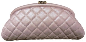 Chanel Timeless Leather Quilted Lilac Clutch