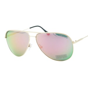 Tom Ford New TOM FORD ERIN FT 0466 Gold Mirrored Pink Flash Aviator Sunglasses