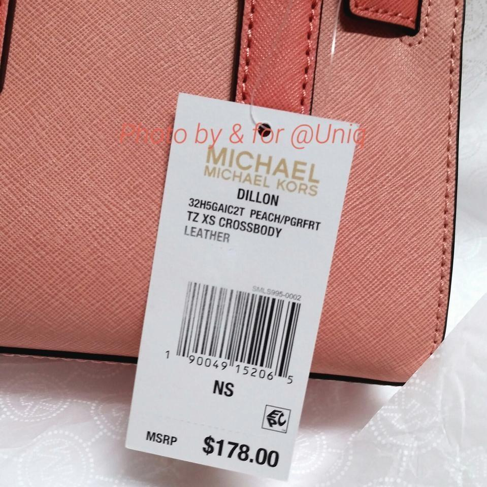b3e1254cffb87 Michael Kors Xs Dillon Mini Satchel Purse Small Handbag Salmon Pink Leather  Gold Tone Hardware Cross Body Bag - Tradesy