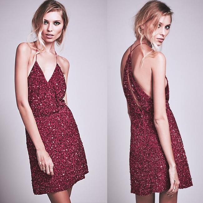 MLV Night Out Date Night Sequin Party Cut-out Dress Image 1