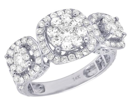 Preload https://img-static.tradesy.com/item/22402423/jewelry-unlimited-14k-white-gold-diamond-three-cluster-engagement-25-ct-11mm-ring-0-0-540-540.jpg