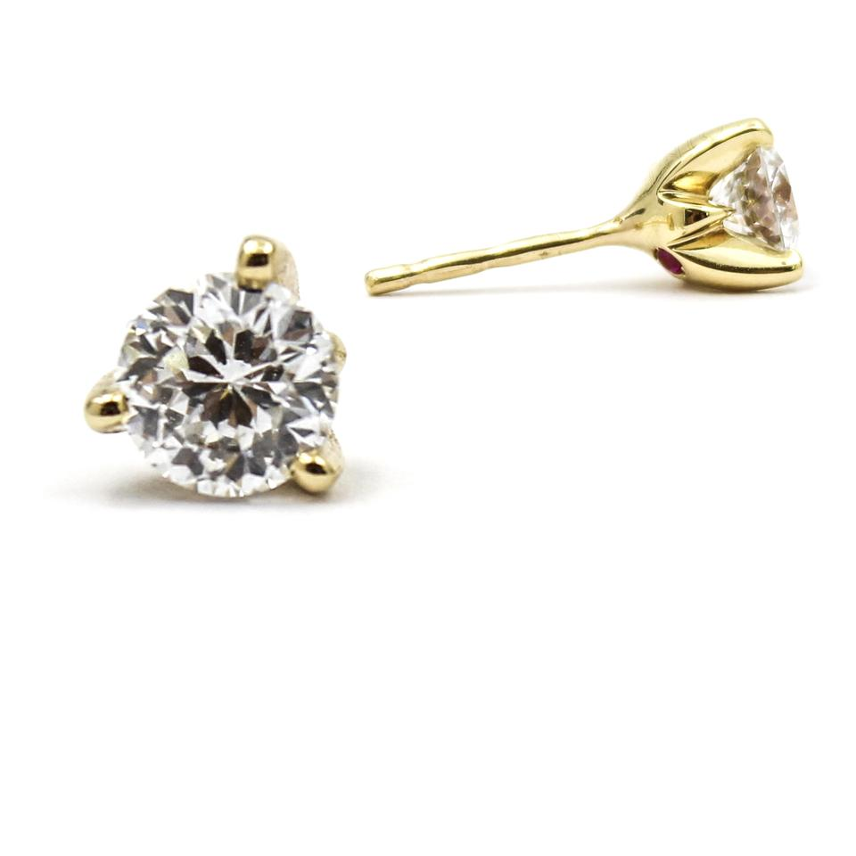 Roberto Coin Cento Diamond Stud Earrings In 18k Yellow Gold 1cttw