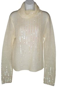Moda International Fuzzy Sequin Mohair Sheer Sweater