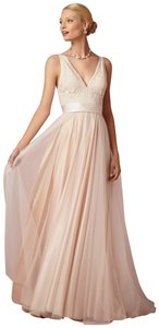 705664781 Catherine Deane for BHLDN Champagne Silk Lace Tulle Tamsin Feminine Wedding  Dress Size 2 (XS