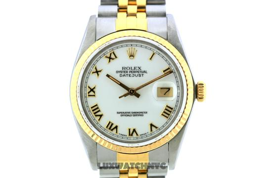 Rolex 36MM ROLEX DATEJUST GOLD S/S WATCH WITH ROLEX BOX & APPRAISAL Image 1