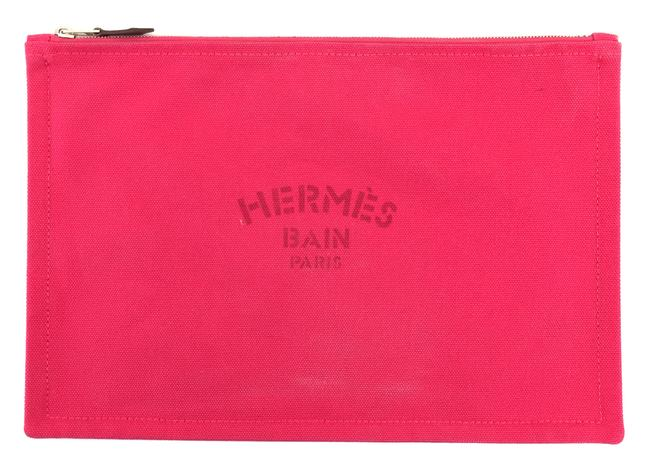 Item - Cosmetic Case #9250 H Yachting Gm Toile Pink Canvas Clutch