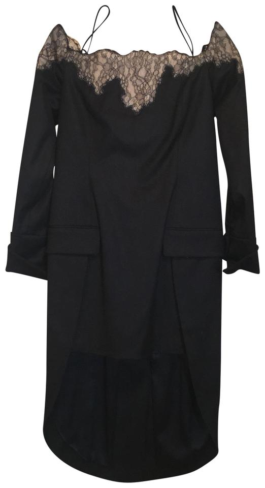 Alexander Wang Black Vintage Tuxedo Mid-length Formal Dress Size 6 ...