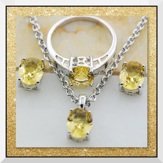 Other New Citrine White Gold Filled Ring Image 1