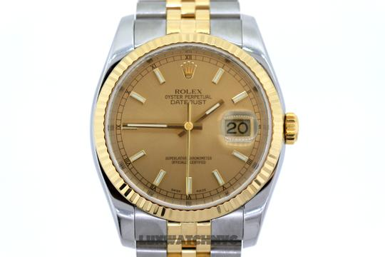 Rolex 41MM DATEJUST II GOLD S/S WATCH WITH BOX & APPRAISAL Image 1
