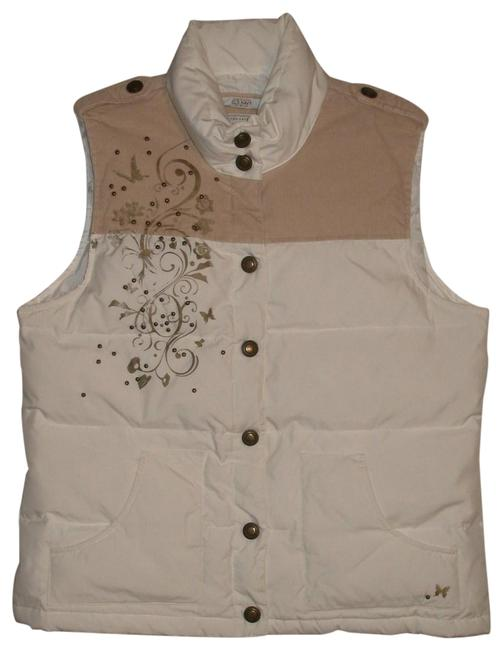 Item - Ivory & Khaki Tan New Down Puffer Vest Size 8 (M)