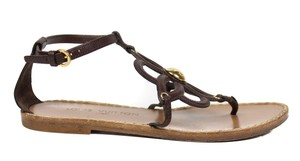 Louis Vuitton Floral Leather brown Sandals