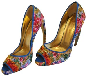 Walter Steiger Blue multicolored Pumps
