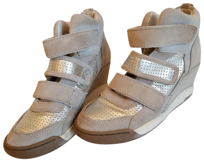Item - Silver Taupe Wedge Sneakers Size EU 37 (Approx. US 7) Regular (M, B)