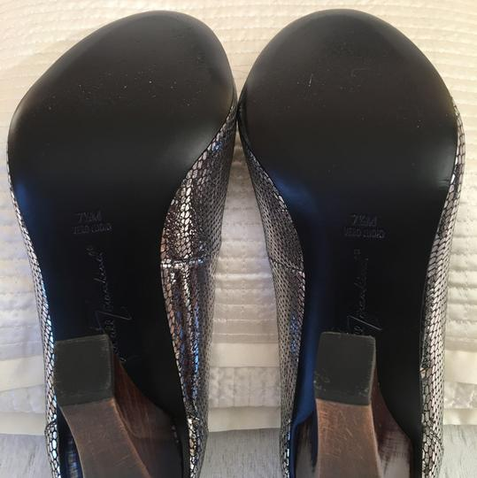 7 For All Mankind Silver Pumps