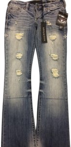 Affliction Flare Leg Jeans-Distressed