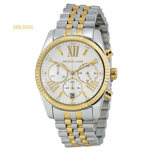 Michael Kors Michael Kors Two-Tone Lexington Watch Silver/Gold Women's Watch MK5955
