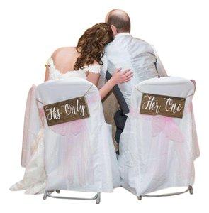 Her One His Only Chair Signs Reception Decoration