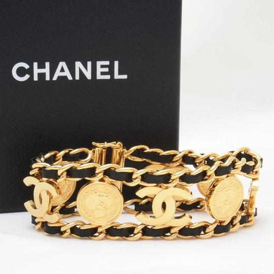 Chanel CHANEL CHARM AND LEATHER BRACELET