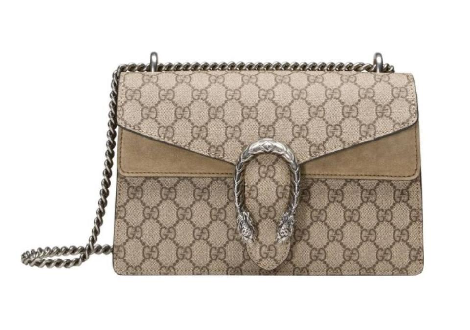 341ac1572551 Gucci Dionysus Small Brown Coated Canvas Shoulder Bag - Tradesy