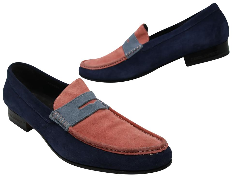 9cf3e0216 Dsquared2 Flats Slip-on Louis Vuitton Gucci Men's Blue / Pink Formal Image  0 .