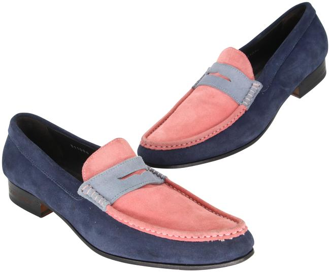 Dsquared2 Blue / Pink Signature Colorblock Suede Men's Slip On Loafers Formal Shoes Size US 10.5 Regular (M, B) Dsquared2 Blue / Pink Signature Colorblock Suede Men's Slip On Loafers Formal Shoes Size US 10.5 Regular (M, B) Image 1