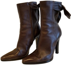 Christian Lacroix Leather Midcalf Dark brown Boots