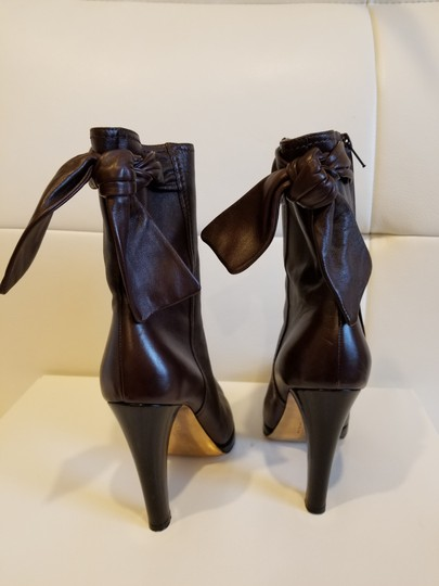 Christian Lacroix Leather Midcalf Dark brown Boots Image 1