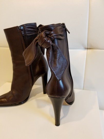 Christian Lacroix Leather Midcalf Dark brown Boots Image 2