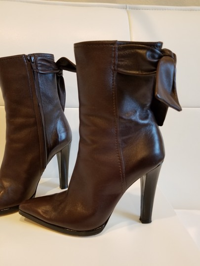 Christian Lacroix Leather Midcalf Dark brown Boots Image 3