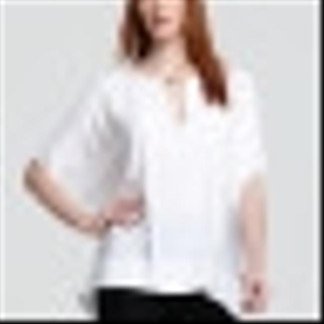 DV Dvf Chic Slouchy Sophisticated Top White