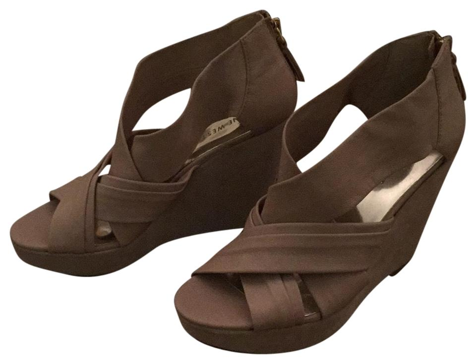 Nine West Nude Tan Suede Wedges and Leather Wedges Suede 1d1b73