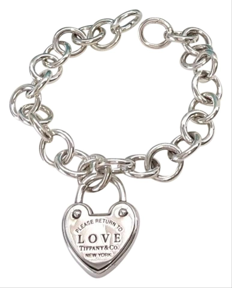 Tiffany Amp Co Love Lock Heart Charm Circle Link Opening