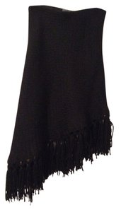 Dolce&Gabbana Fringed Wool Skirt Black