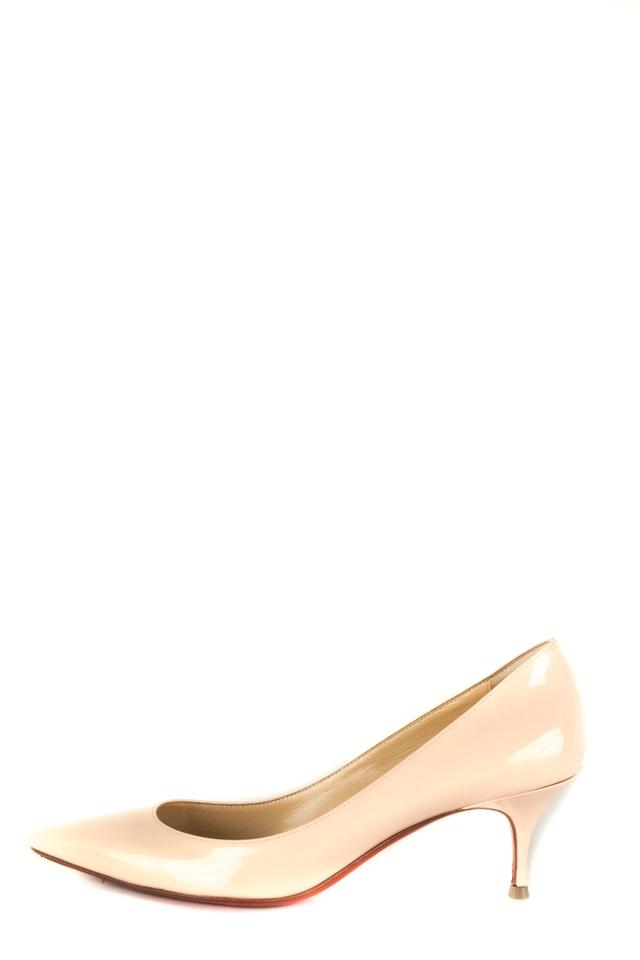 b36ae8f9cffe Christian Louboutin Blush Patent Leather Point Toe Heels Sandals ...