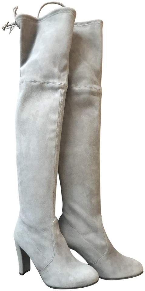 73adc04d1cc Stuart Weitzman Over The Knee Highland High Over The Knee Topo Suede Boots  Image 0 ...