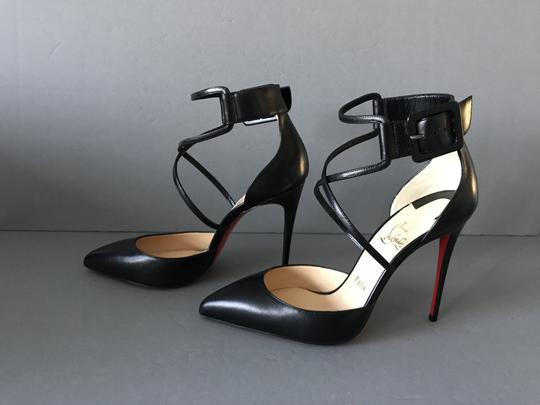 Christian Louboutin Criss Cross With Box Red Sole Black Pumps