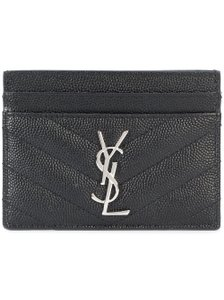 Saint Laurent BRAND NEW Black Quilted Leather Card Case