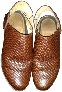 Ariat Leather Braided Heeled Adjustable Strap Brown Mules