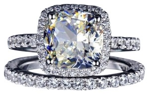 Eternity Stimulated Cushion Cut All Size In Stock Ring