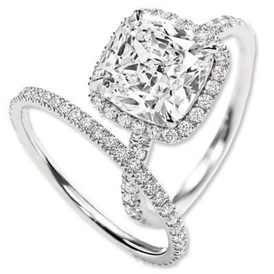Eternity Stimulated Cushion Cut All Size In Stock Ring Image 2