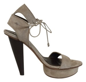 Calvin Klein Collection Suede Grey Sandals