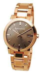 Burberry 100% New Authentic BURBERRY Check Pattern Rose Gold Watch BU9005
