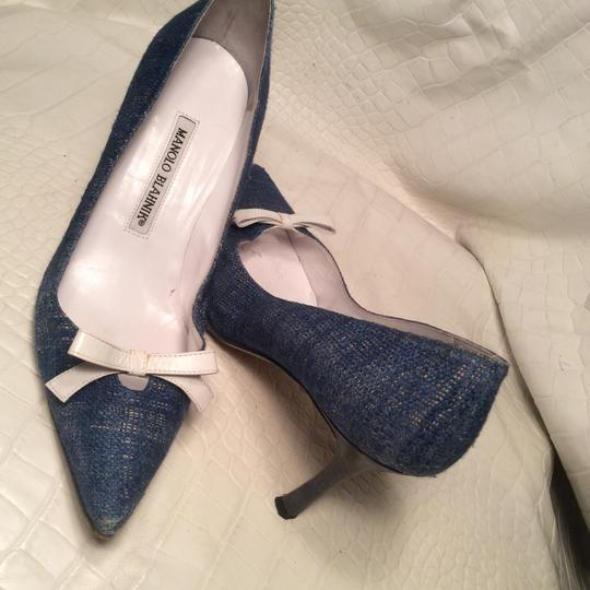 Manolo Blahnik blue Pumps Image 7