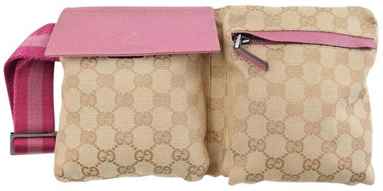 Gucci Pink Canvas Waist/Fanny Pouch Weekend/Travel Bag ...