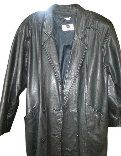 Preload https://item2.tradesy.com/images/morgan-taylor-black-leather-jacket-size-6-s-2240606-0-0.jpg?width=400&height=650
